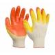 """№ 2 Перчатка Х/Б с двойным латексным покрытием оранжевая """"Люкс"""" (1/200)"""