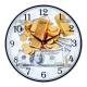"""3030-1102 Часы настенные """"21 Век""""  (10) Доллары и слитки золота"""""""