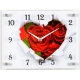 """3040-1098 Часы настенные """"21 Век"""" """"Розы в бумажном сердце"""""""