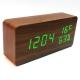 Настольные часы VST-862W-4-САЛАТНЕВЫЙ USB (декоративные с датой, днем недели, t, влажностью)
