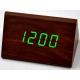 Настольные часы VST-864-4-САЛАТНЕВЫЙ USB / ET011 green (декоративные с датой и температурой)