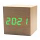 Настольные часы VST-869-4-САЛАТНЕВЫЙ USB/ ET008 green (декоративные с датой и температурой)