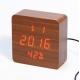 Настольные часы VST-872S-1-КРАСНЫЙ USB (декоративные с датой, температурой, влажностью)