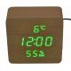 Настольные часы VST-872S-4-САЛАТНЕВЫЙ USB (декоративные с датой, температурой, влажностью)