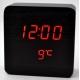 Настольные часы VST-872-1-КРАСНЫЙ USB (декоративные с датой и температурой)