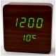 Настольные часы VST-872-4-САЛАТНЕВЫЙ USB (декоративные с датой и температурой)