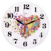 """3030-022 (10) Часы настенные """"Сердце из цветочков"""""""