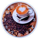 """3030-571 (10) Часы настенные """"Чашечка любимого кофе"""""""