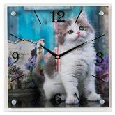 """3535-103 (10) Часы настенные """"Котенок"""""""