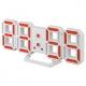 "Будильник Perfeo LED ""LUMINOUS 2"", белый корпус/красная подсветка (PF-6111)"