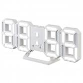 "Будильник Perfeo LED ""LUMINOUS 2"", белый корпус/белая подсветка (PF-6111)"