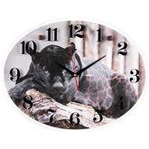 """3546-011 Часы настенные """"Чёрный ягуар"""" """"Рубин/21 Век"""" (5)"""