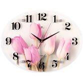 """3546-016 Часы настенные """"Тюльпаны"""" """"Рубин/21 Век"""" (5)"""